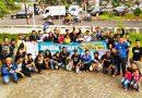 Gallery Foto : Aksi Simpatik Jarak Aman Bersama Puluhan Bikers di Kalimalang