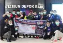 SSFC Pengda Depok Kembali Bagi-Bagi Hand Sanitizer di Terminal dan Stasiun