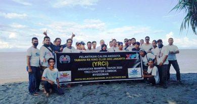YRCi Lombok Gelar Pelantikan dan Bersih-Bersih Pantai Selingkuh