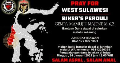 Usai Sumedang, Xabre Owners Bandung Peduli Bencana Berlanjut ke Mamuju