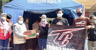 Baksos Forum Suzuki Thunder Bantu Korban Banjir di Kecamatan Periuk, Tangerang