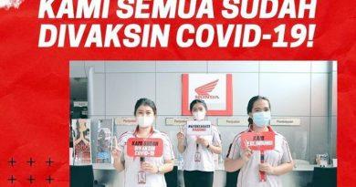 WMS Lakukan 100 Persen Vaksinasi ke Seluruh SDM Dealer dan AHASS